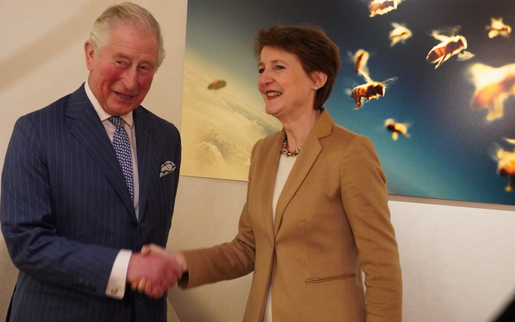 Bundespräsidentin Sommaruga und His Royal Highness Prinz Charles