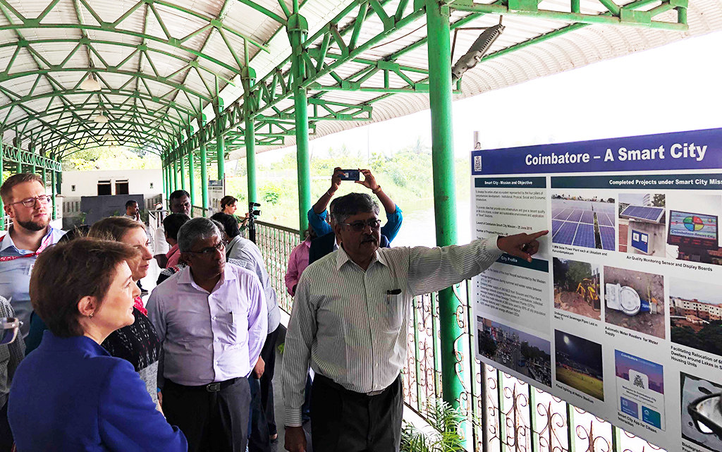 Singanallur Lake in Coimbatore: Water management project as part of the CapaCITIES programme