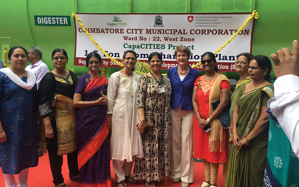 Biogas plant in Coimbatore (CapaCITIES) supported by Switzerland: Official handover to the city